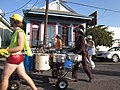 NO Fringe Parade 2011 Franklin Avenue Drumcart 3.JPG