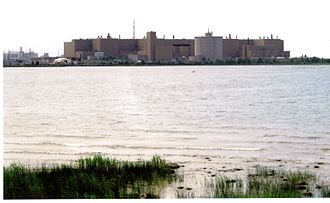 Bruce Nuclear Generating Station - Bruce A looking Southwest across Baie Du Dor