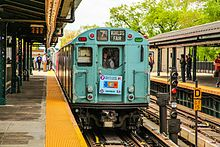 The Train of Many Colors at Mets–Willets Point