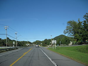 New York State Route 40 - NY 40 at the junction with NY 149 in the town of Hartford