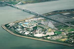 Nagashima Spa Land - Nagashima Spa Land from the sky