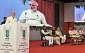 Narendra Modi addressing the gathering at the 87th ICAR Foundation Day Celebrations, at Patna, Bihar. The Governor of Bihar, Shri Keshri Nath Tripathi, the Union Minister for Agriculture, Shri Radha Mohan Singh.jpg