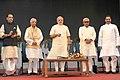 Narendra Modi launching the five ICAR programmes at the 87th ICAR Foundation Day Celebrations, at Patna, Bihar. The Governor of Bihar, Shri Keshri Nath Tripathi, the Union Minister for Agriculture, Shri Radha Mohan Singh.jpg