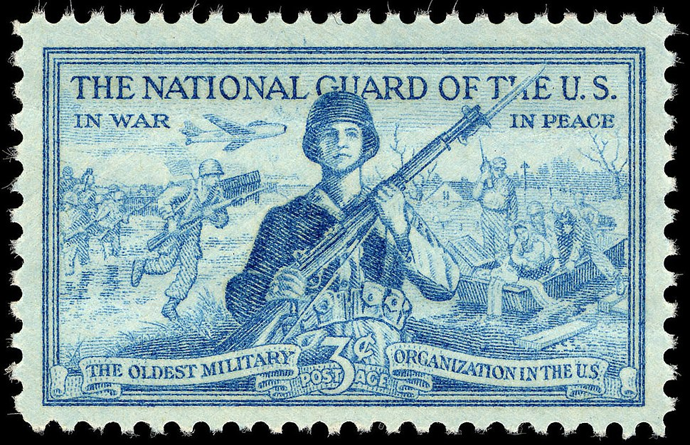 National Guard 3c 1953 issue U.S. stamp