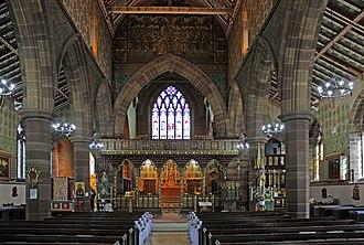 Church of Saint John the Baptist, Liverpool - Image: Nave of St John, Tuebrook