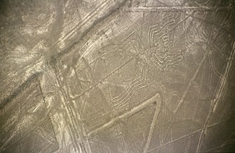 Ica Region - Nazca Lines: figure of the Spider.