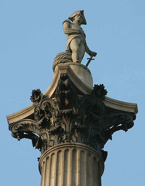File:Nelson On His Column - Trafalgar Square - London - 240404.jpg
