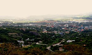 Nelspruit - A view of the CBD of Nelspruit as seen from the Steiltes suburb