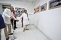 Nemai Ghosh Accompanied By Biswatosh Sengupta Visiting 1st Four Ps Group Exhibition - Kolkata 2019-04-17 5250.JPG