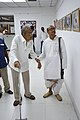 Nemai Ghosh Accompanied By Biswatosh Sengupta Visiting 1st Four Ps Group Exhibition - Kolkata 2019-04-17 5264.JPG