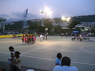 Geography of netball - Image: Netball in Jamaica