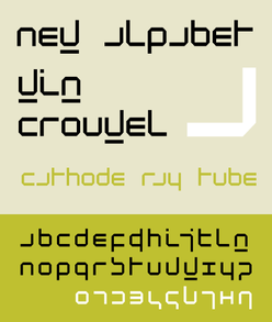 new alphabet by crouwel