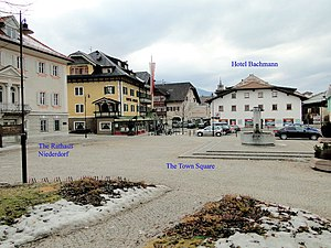 The Town Square, Hotel Bachmann, The Rathaus in Niederdorf