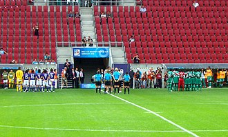 2010 FIFA U-20 Women's World Cup - Teams of Japan and Nigeria, second group match day, 17 July 2010