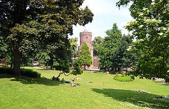 Kronenburgerpark - Image: Nijmegen, Kronenburgerpark, centrum
