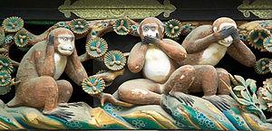 Esculturas de Hidari Jingoro en el santuario Toshogu en Nikko (Japon)