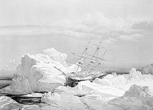 Critical position of HMS Investigator on the n...