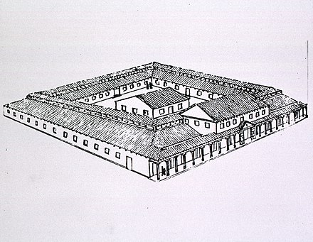 Reconstruction of Roman military hospital at Windisch, Switzerland
