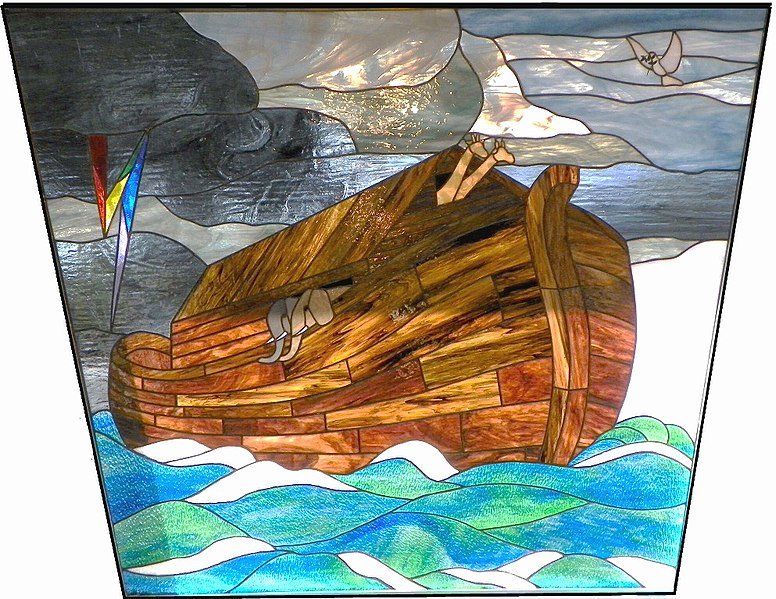 File:Noah's Ark. Stained-glass window at Church of Our Savior, MCC (Metropolitan Community Church), 2011 South Federal Hwy, Boynton Beach, Florida.jpg