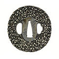Noda Mitsuhiro II - Tsuba with One Hundred Monkeys - Walters 51133.jpg
