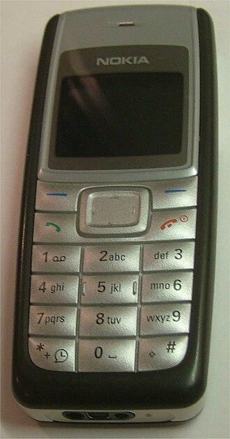 Nokia 1110 - Image: Nokia 1110 DG 01