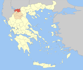 Florina (regional unit) - Florina within Greece