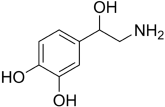 Norepinephrine–dopamine reuptake inhibitor - The skeletal structure of norepinephrine