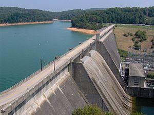 Norris Dam State Park - Image: Norris dam west tn 1