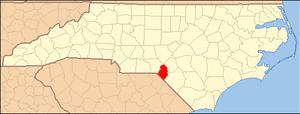 Locator Map of Scotland County, North Carolina...