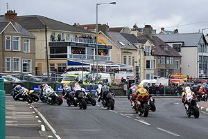 North West 200 - A group of riders entering York Corner during the 2009 event