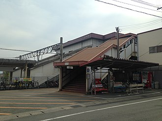 Nagasu Station - Image: North entrance of Nagasu Station
