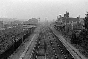 Northampton Bridge Street railway station - Station in 1966.