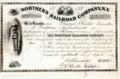 Northern Railroad Company Stock Certificate.png