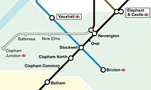 Northern Line Extension Map Northern line extension to Battersea   Wikipedia Northern Line Extension Map