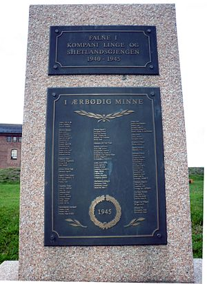 Norwegian Independent Company 1 - Memorial at Akershus Fortress to the members of the Norwegian Independent Company 1 and the Shetland bus who were killed in World War II