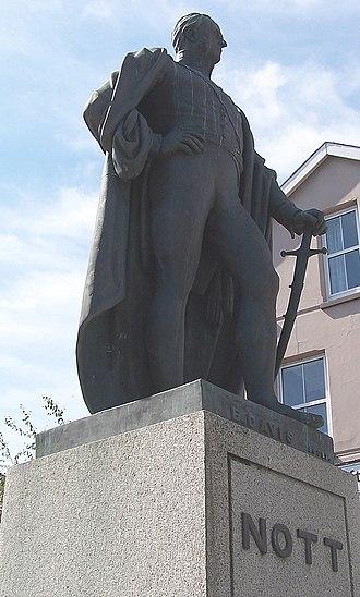 William Nott - Statue in Nott Square, Carmarthen