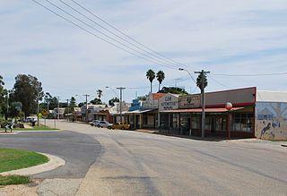 Nyah West Town in Victoria, Australia