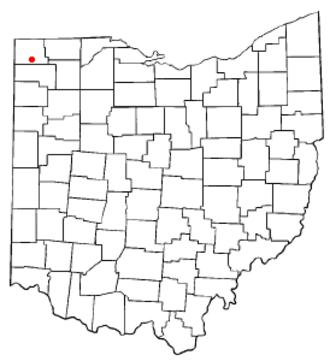 Bryan, Ohio - Image: OH Map doton Bryan