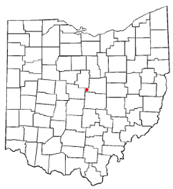Location of Centerburg, Ohio