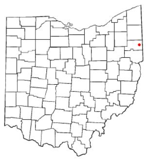 Poland, Ohio - Image: OH Map doton Poland