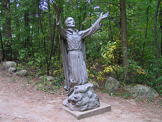 Jean de Brébeuf - Statue of Jean de Brébeuf on the site of the Martyrs' Shrine, Midland, Ontario