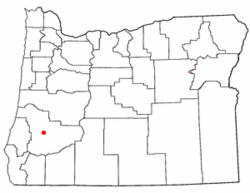 Location of Roseburg North, Oregon