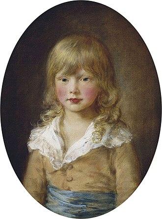 Prince Octavius of Great Britain - Octavius in 1782, by Thomas Gainsborough