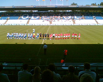 Shelbourne F.C. - Shelbourne line-out against Odense BK in the second round of the 2006 Intertoto Cup.