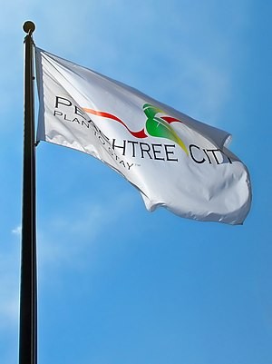 Peachtree City, Georgia - The official flag of Peachtree City, outside City Hall