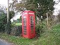Old-fashioned telephone box at Glasgoed - geograph.org.uk - 281060.jpg