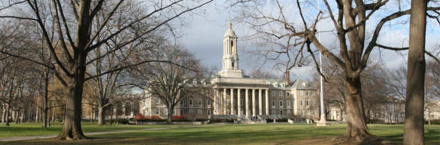 Old Main, the main administrative building of Penn State, located at University Park.