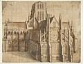 Old St. Paul's Cathedral, London, seen from the East MET DP814891.jpg