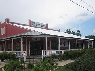Salado, Texas - Old Town Salado arts and crafts shops, across from Salado Civic Center
