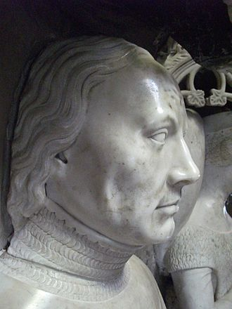 Olivier de Clisson - Olivier V de Clisson depicted on his tomb Basilique Notre Dame du Roncier, Josselin, Brittany.